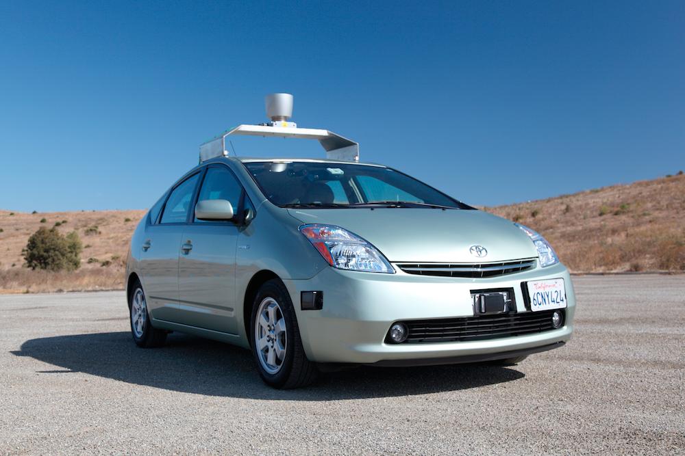 Google-bilen kan til og med kjøers av blinde.Foto: Foto: Ollie Rickman/Twitpic.