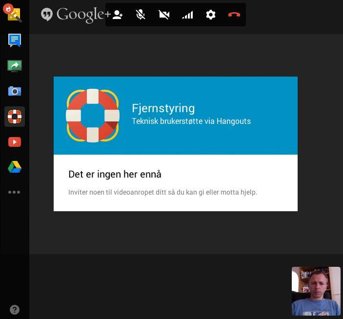 Med Google Hangouts kan du fjernstyre andres PC-er, samtidig som du snakker med dem via videochatten.