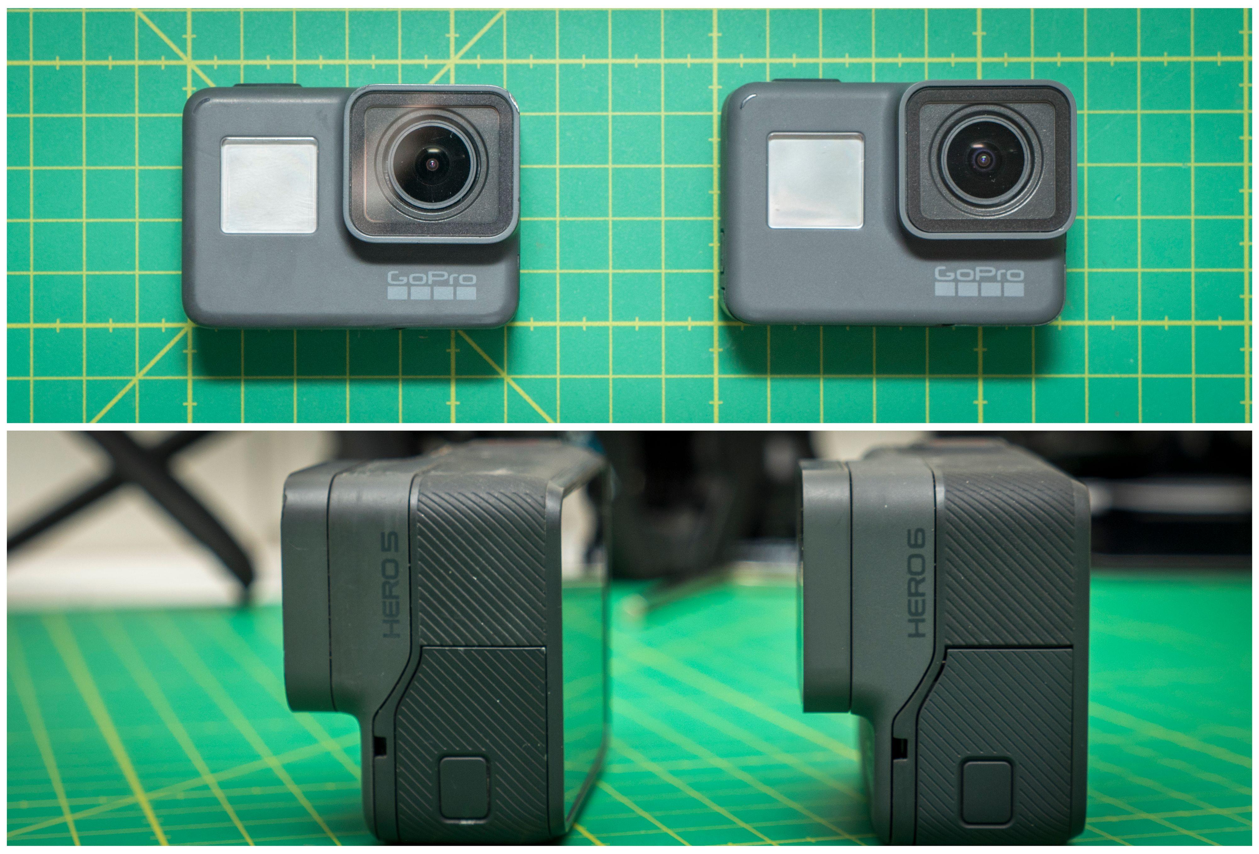 GoPro Hero5 vs Hero6.