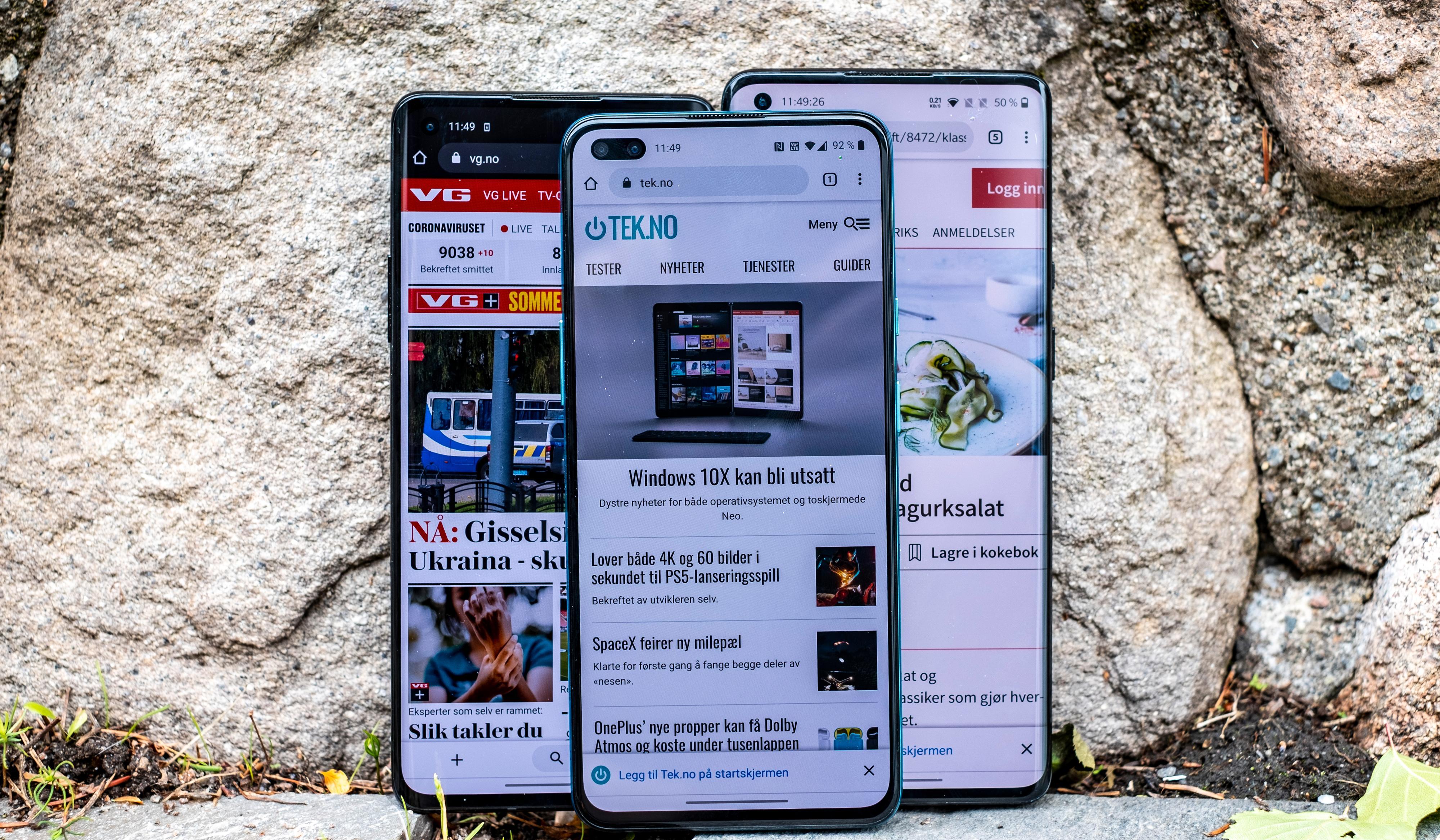 OnePlus Nord sammen med resten av årets OnePlus-mobiler.