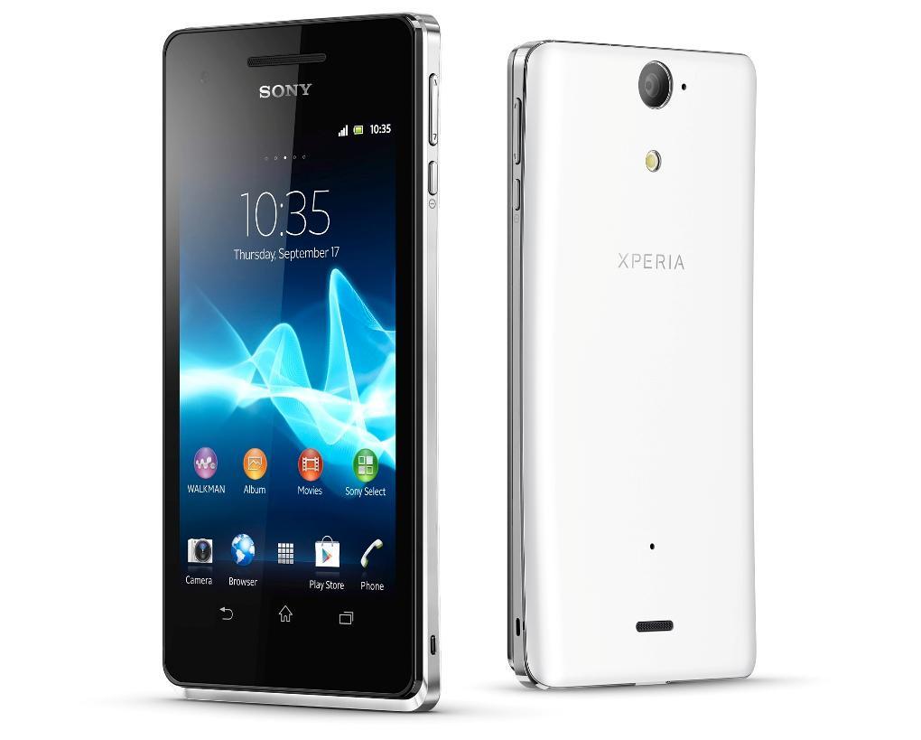 Sony Xperia V ser ut som en helt vanlig Android-telefon, men den er faktisk vanntett.