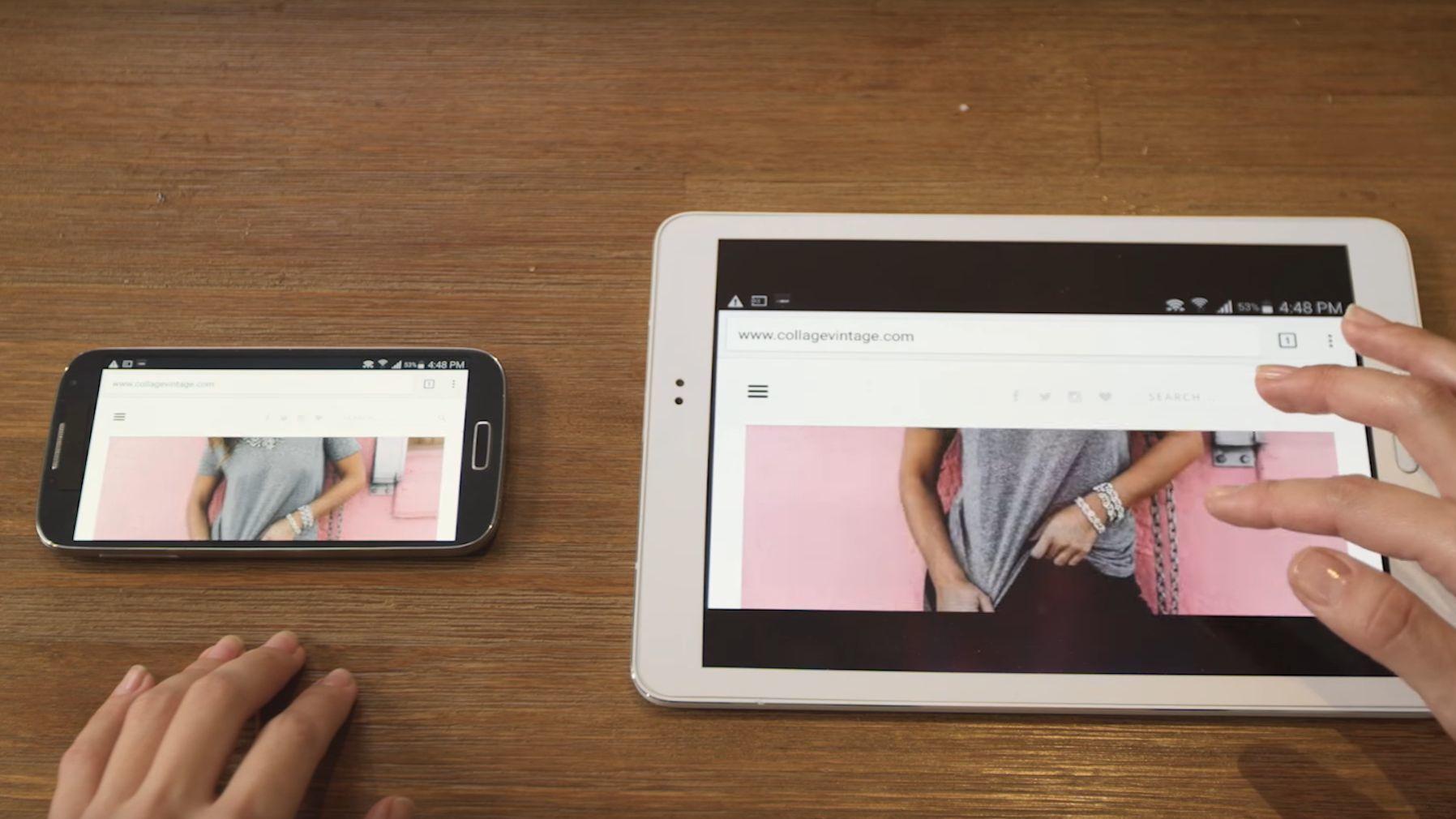 Denne gir mobilen din en stor, ekstra skjerm