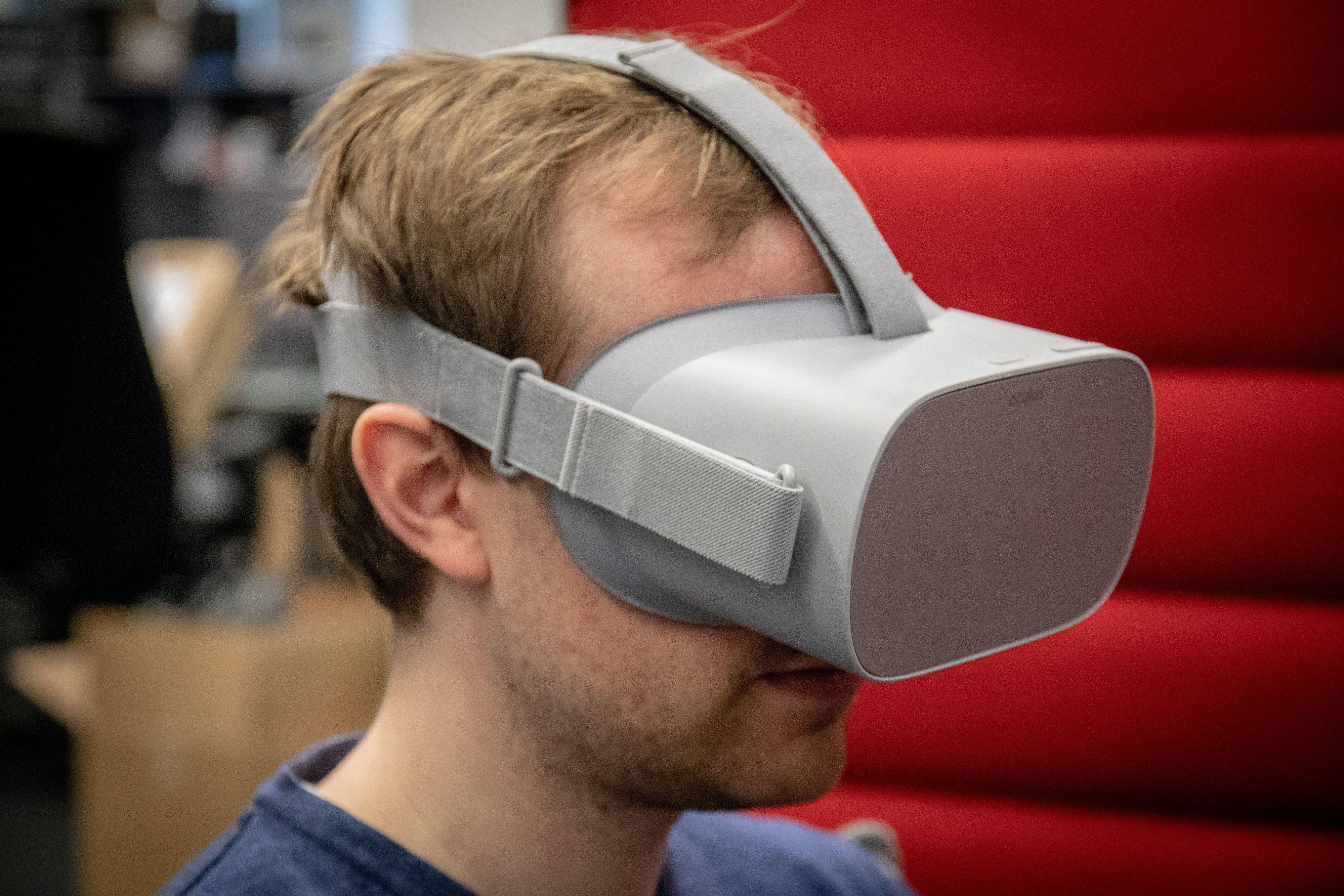 Oculus Go er relativt lette i forhold til andre VR-briller.