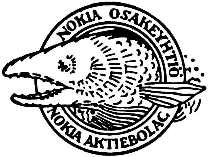 Nokia-logo fra 1966.Foto: Nokia