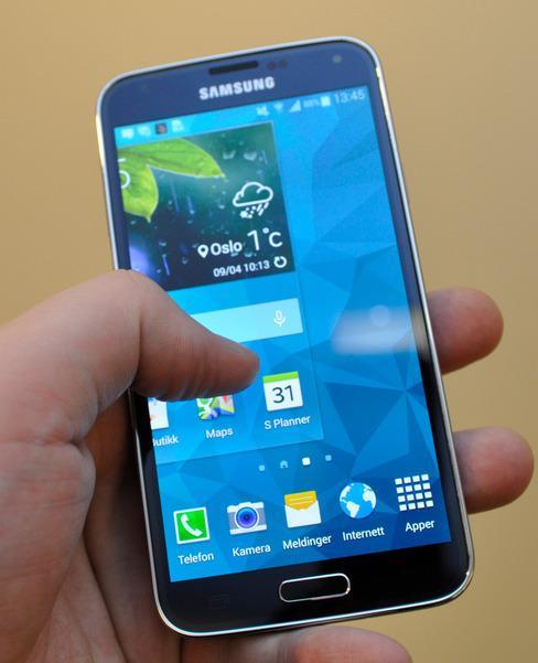 Samsung Galaxy S5 kan få Android 5.0 Lollipop i desember.Foto: Finn Jarle Kvalheim, Tek.no