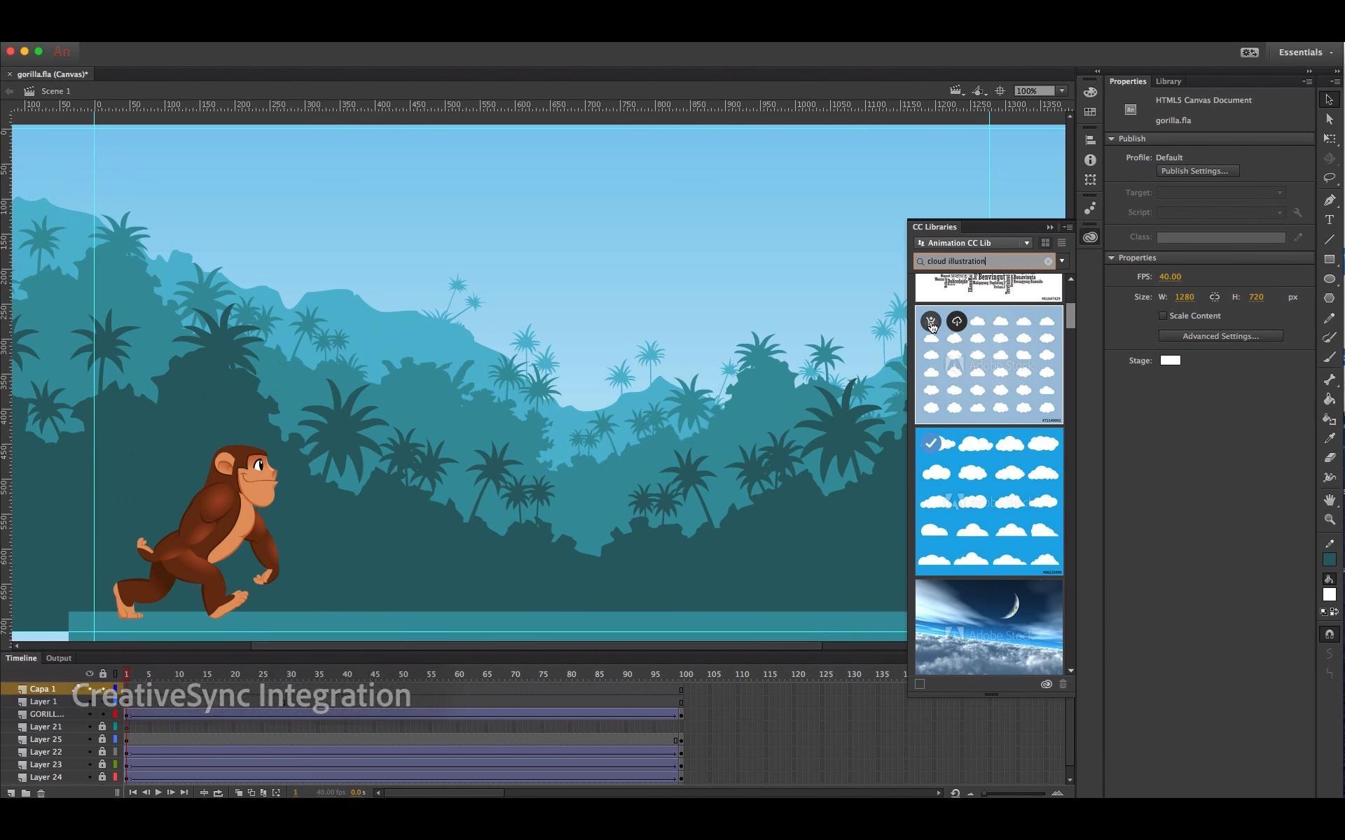 Adobe Animate får mange nye verktøy. Dette er et bilde av grensesnittet. Foto: Adobe/YouTube