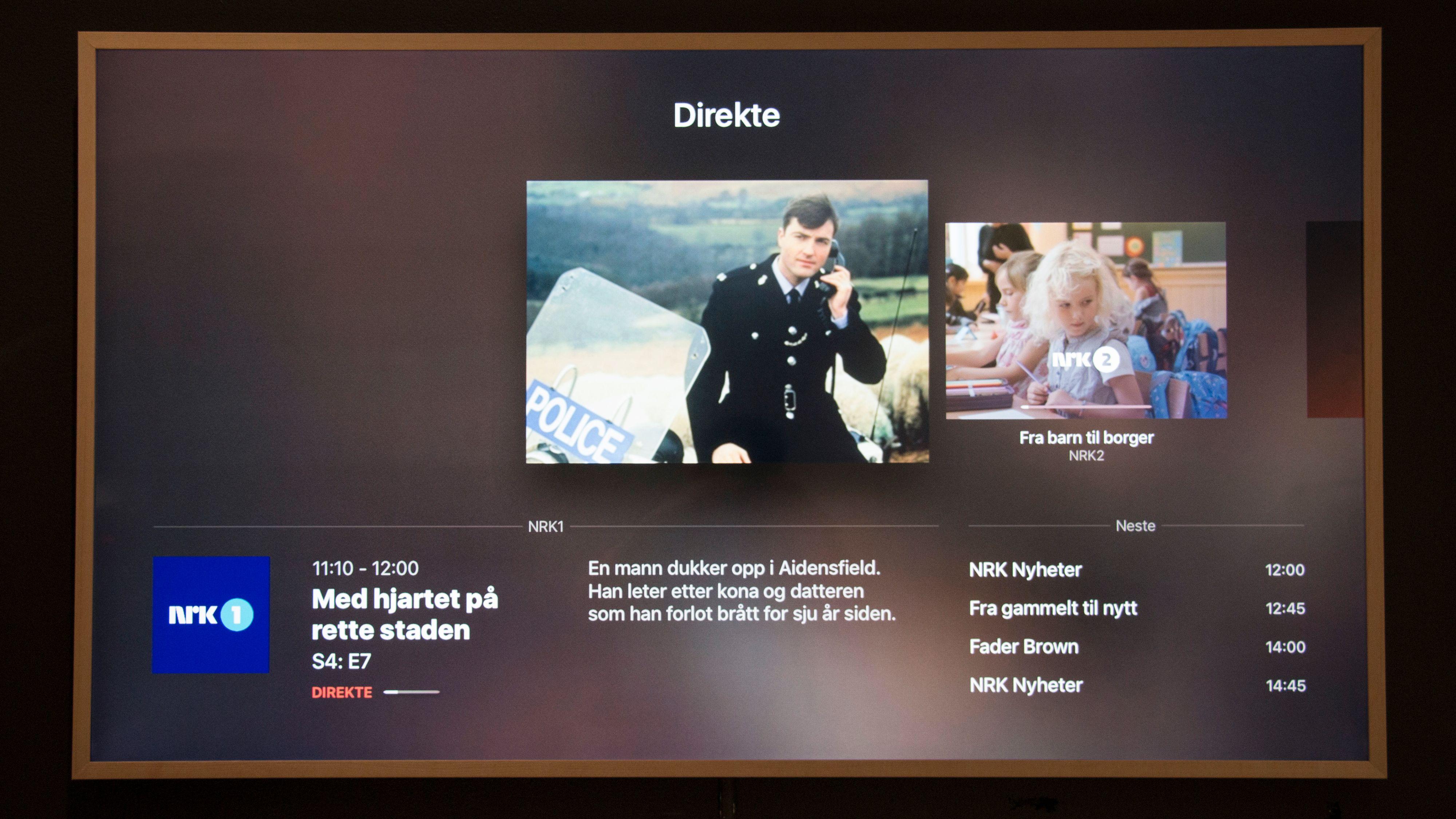Apple TV-appen mangler en full TV-guide slik vi kjenner fra dekoderverdenen. Du kan imidlertid få bedre oversikt gjennom mobilappen.