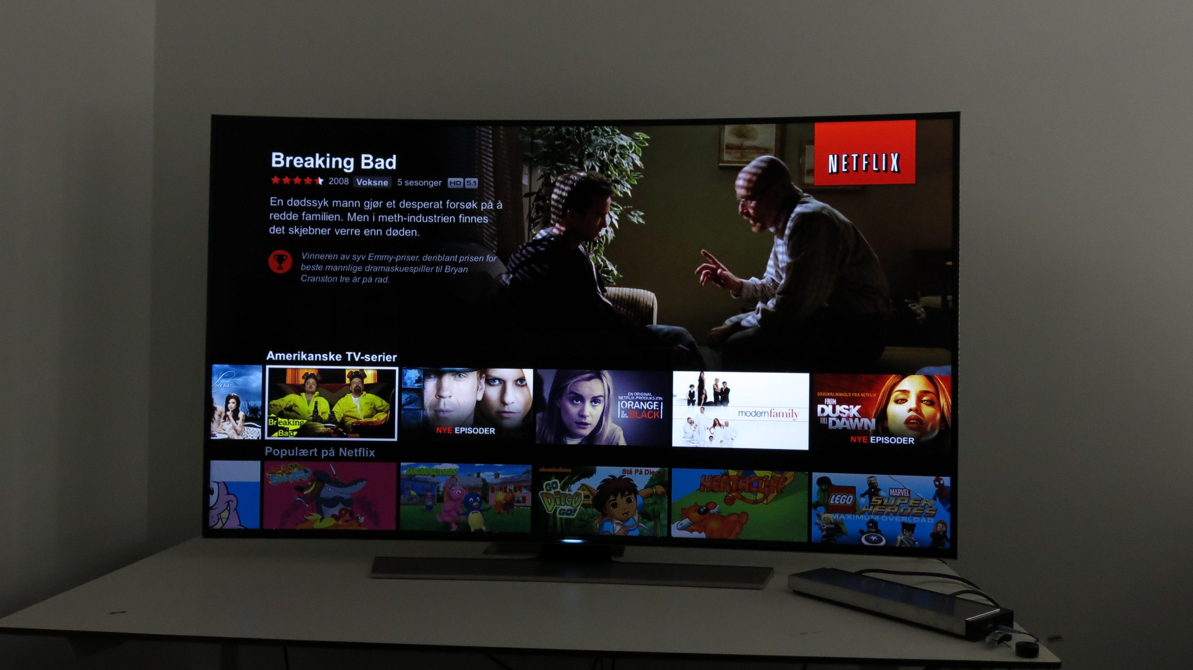 Slik ser grensesnittet ut i den nye Netflix-appen. .Foto: Ole Henrik Johansen / Hardware.no