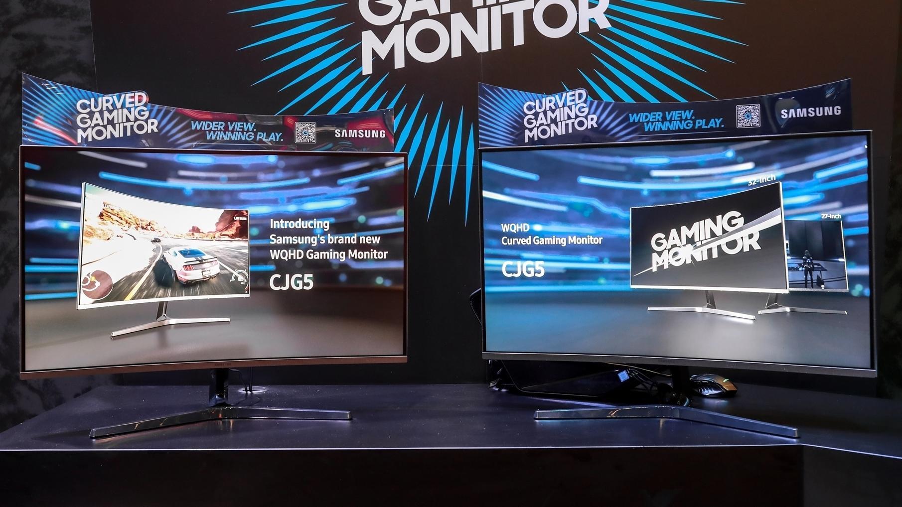 To nye og snasne spillskjermer fra Samsung