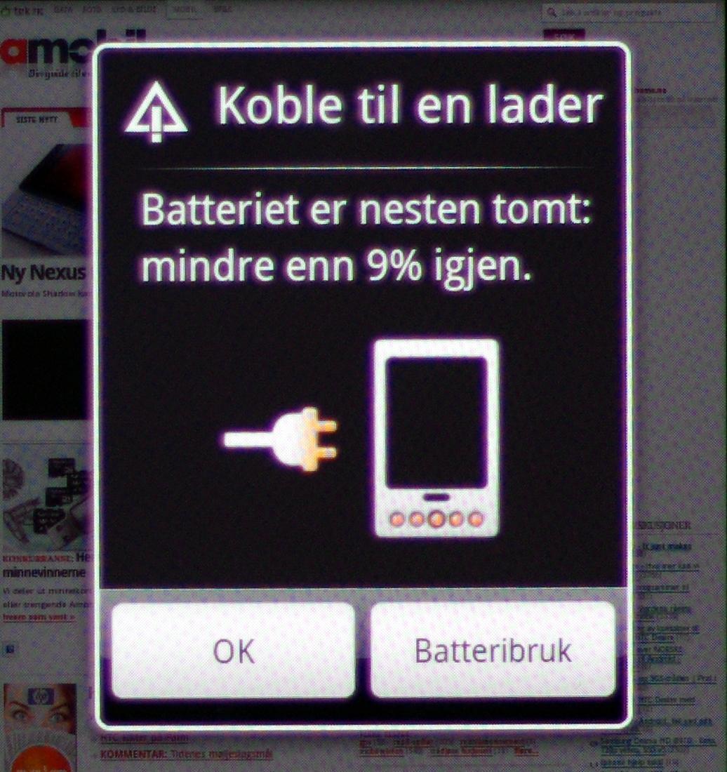 Batterilevetiden er ikke bedre enn den bør være.