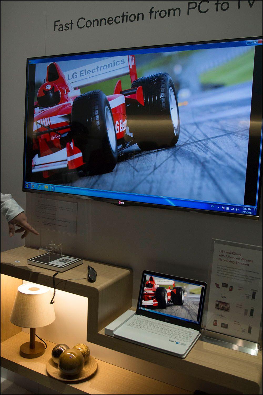 WiDi-overføring kombinert med «Magic Remote» var en god kombinasjon.Foto: Niklas Plikk, hardware.no