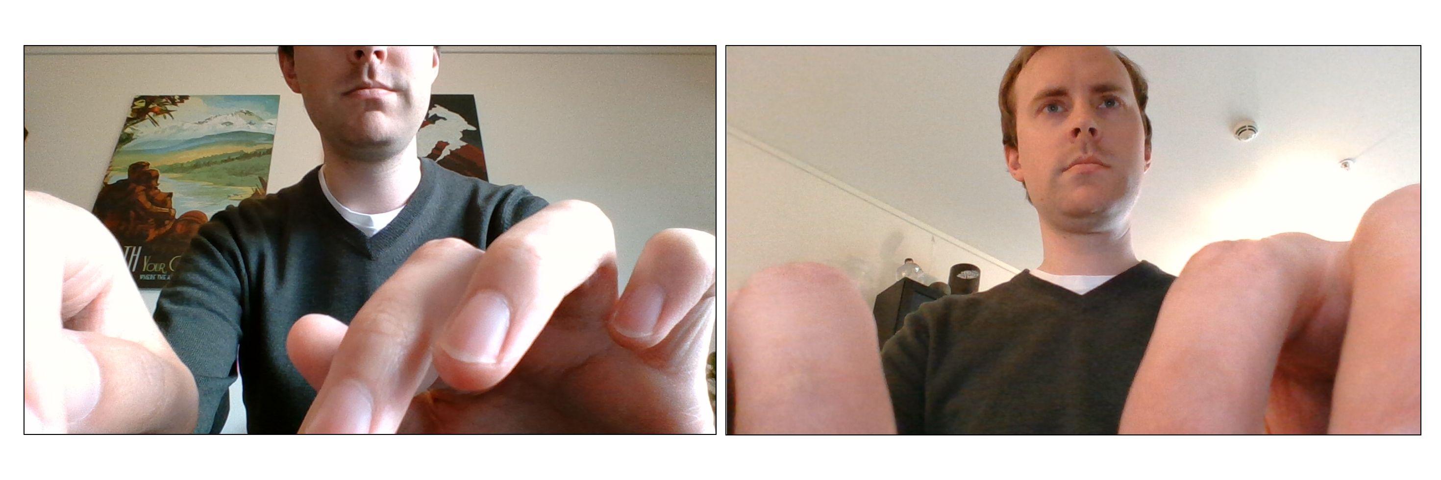 Tentakel-fingre og avkuttet hode, eller dobbelthake. Valget er ditt med MateBook X Pros kamera som er felt inn i tastaturet.
