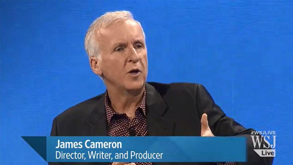 James Cameron ble intervjuet av WSJ om bruk av VR i film.Foto: skjermbilde/WSJ