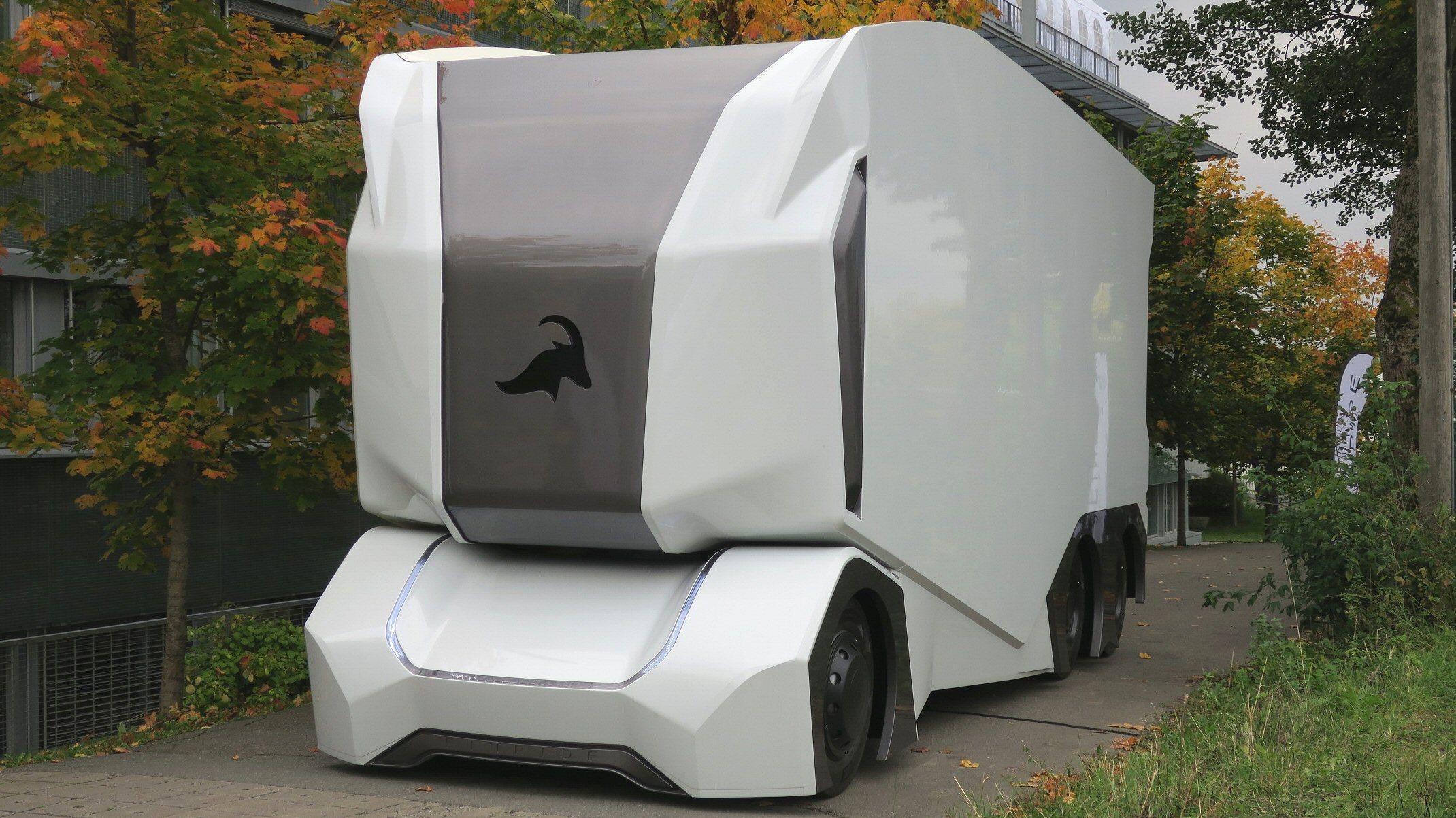 Denne førerløse lastebilen kan være en smakebit på framtiden