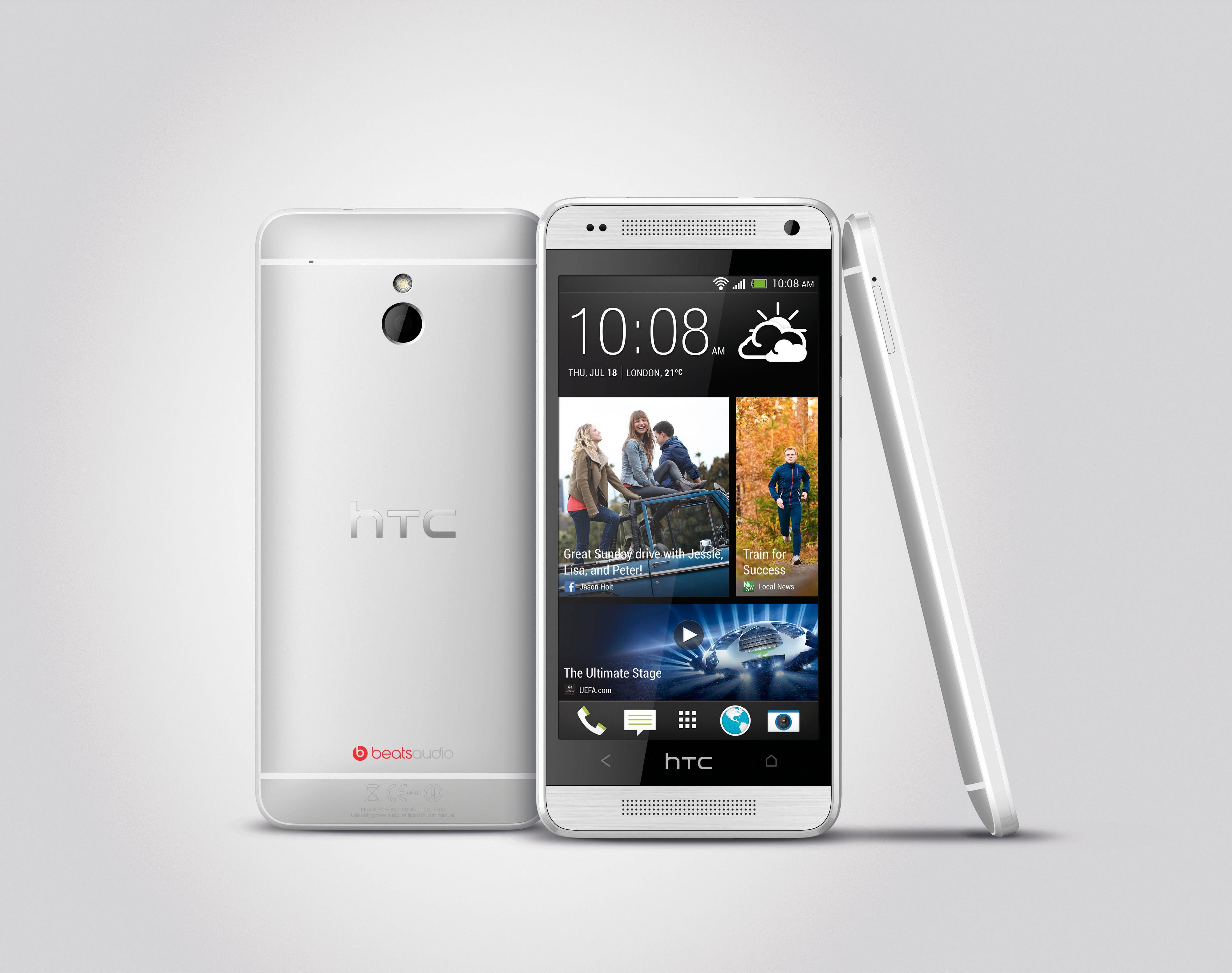 HTC One Mini har mange fellestrekk med HTC One.Foto: HTC