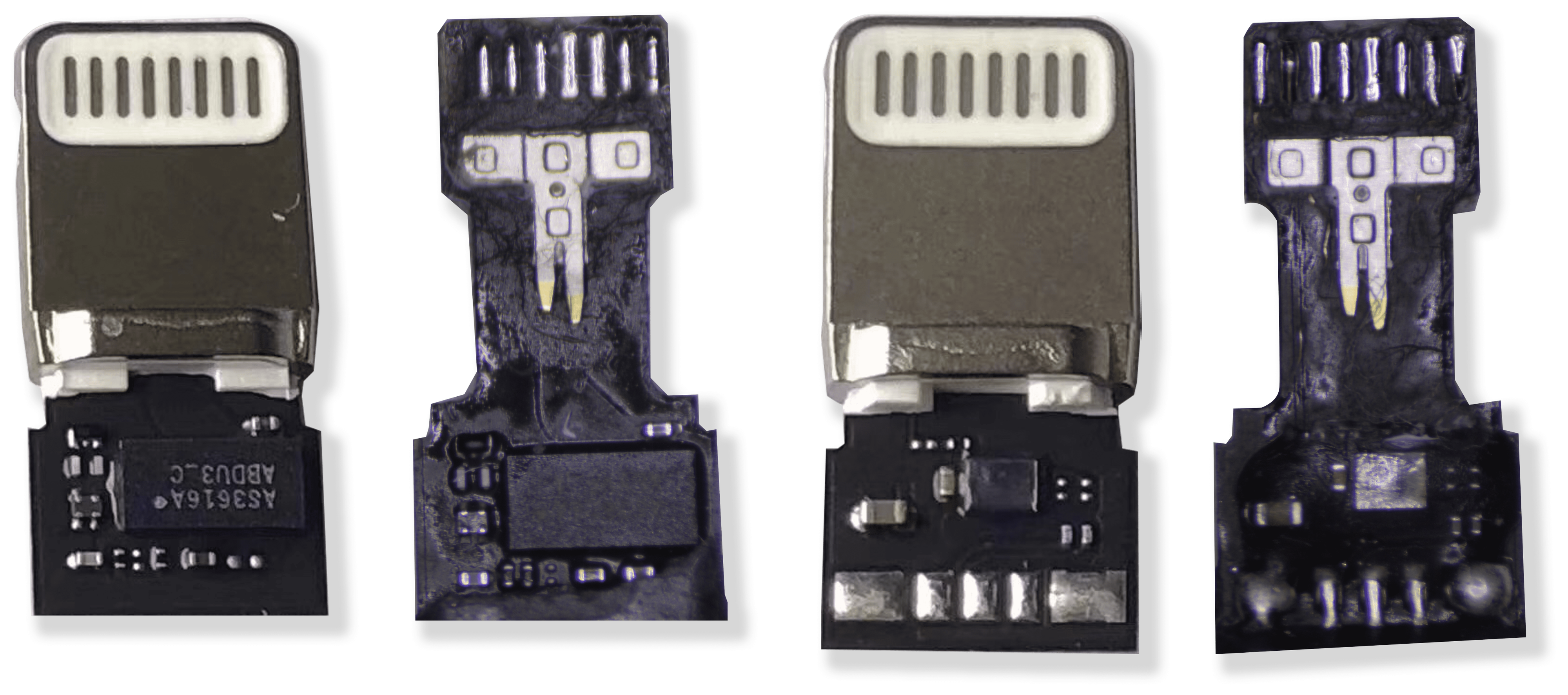 Dette er C94-tilkoblingen som gjør at Apples Lightning-tilkobling snakker med telefonen.
