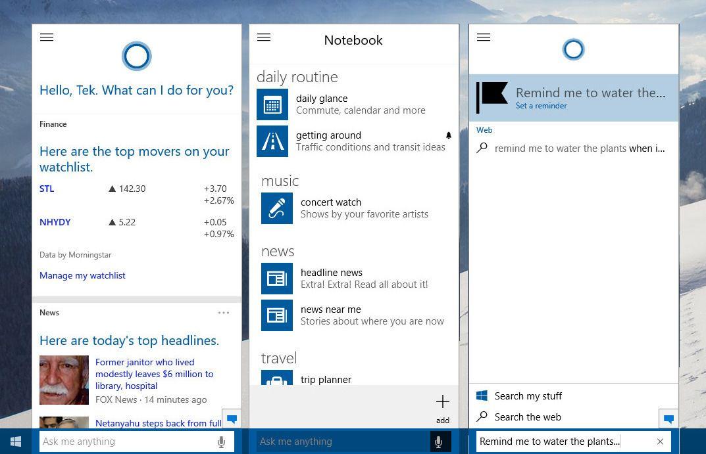 Cortana er foreløpig ikke så veldig hjelpsom. Men hun hjelper deg i det minste med å finne både programmer, informasjon fra Internett og med å opprette påminnelser og alarmer.