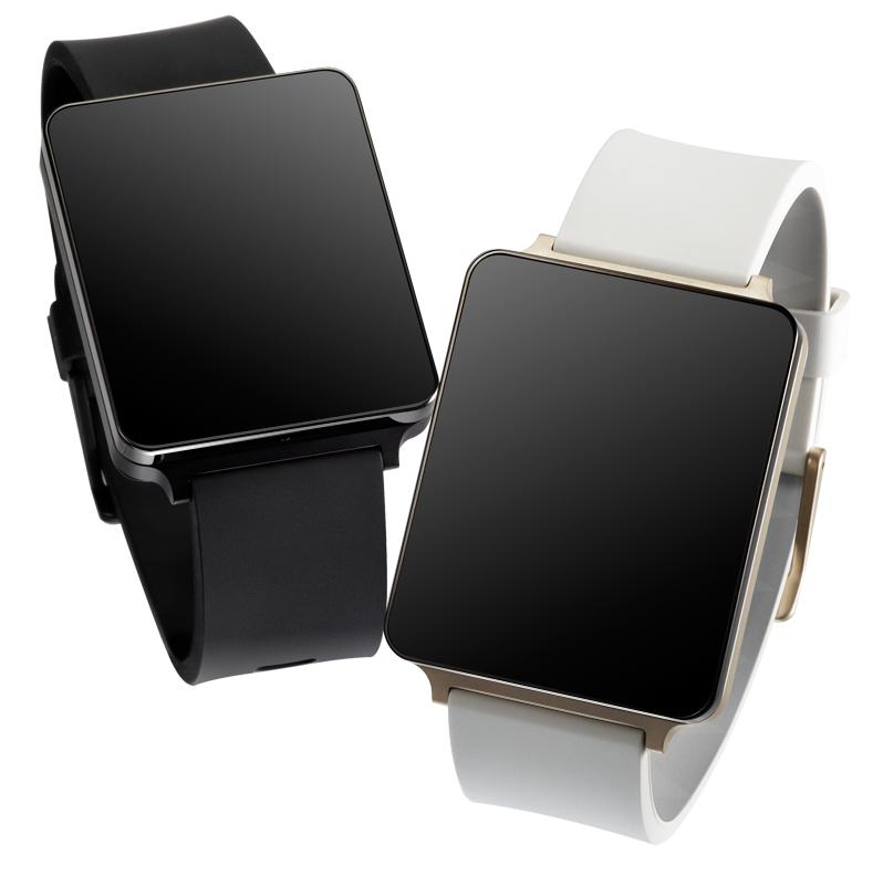 LG G Watch kommer i to farger; svart og «champagne»-farget.Foto: LG