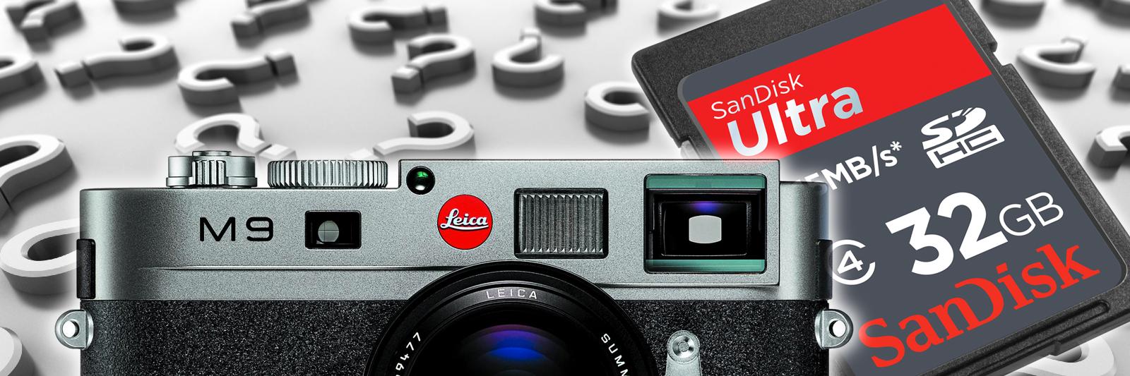 Dreper Leica M9 SanDisk-kortene dine?