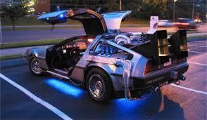 Den modifiserte utgaven av DeLorean DMC-12 som ble brukt i filmen.Foto: Back to the Future/Youtube