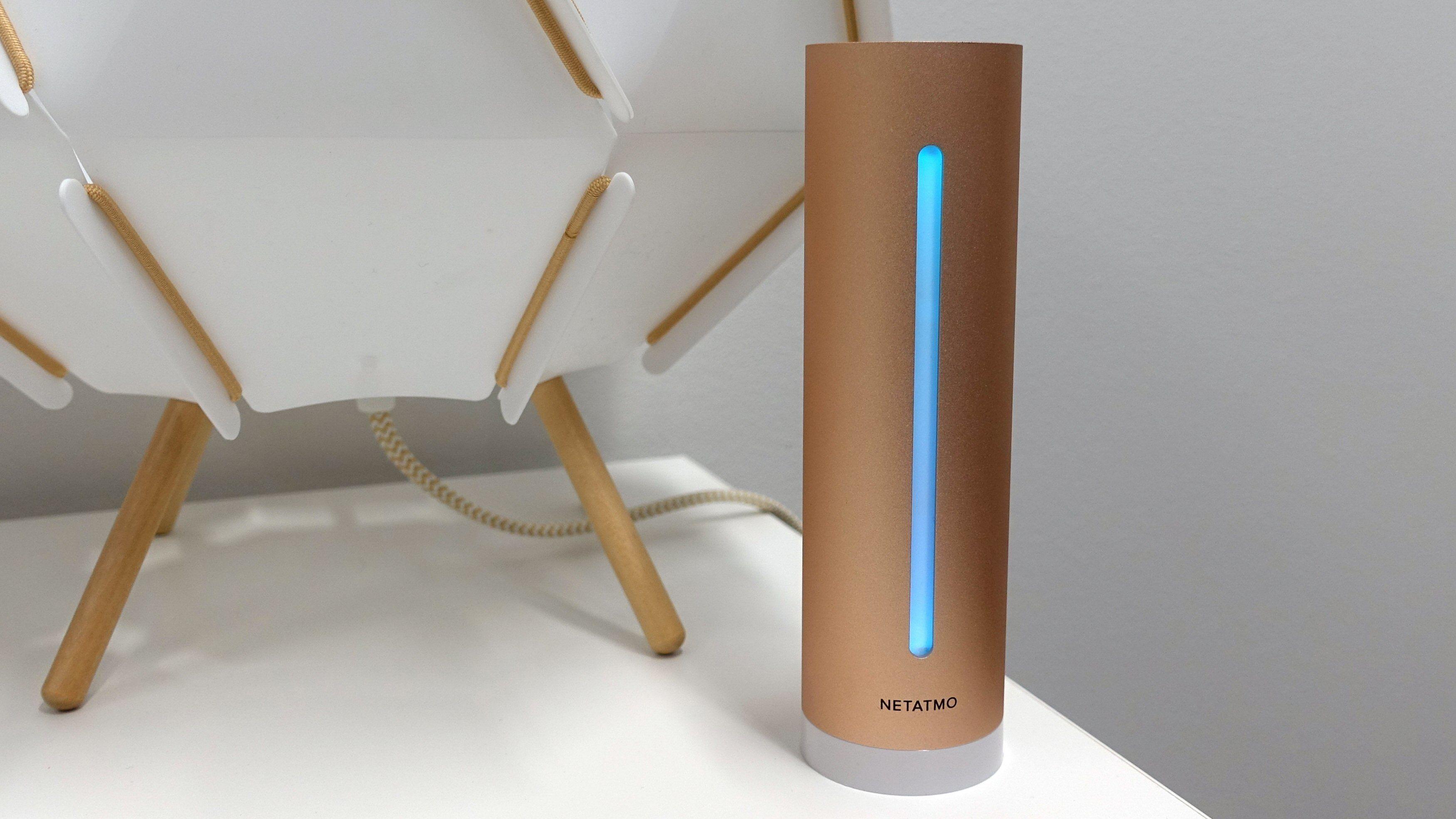 Netatmos smarte luftkvalitetsmåler har støtte for Apple HomeKit.