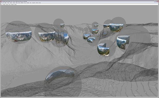 xRez Studios: Illustrasjonen viser de 20 fotoposisjonene i Yosemite Valley.