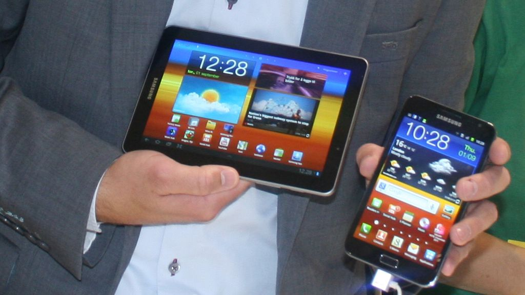 Galaxy Tab 7.7 er hakket større enn Galaxy Note.