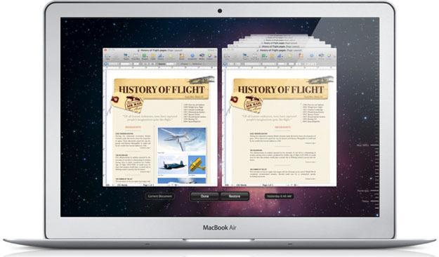 TIDSREISE: Time Machine lar deg reise tilbake i tid og finne gamle versjoner av dokumentet ditt.Foto: Øystein W. høie