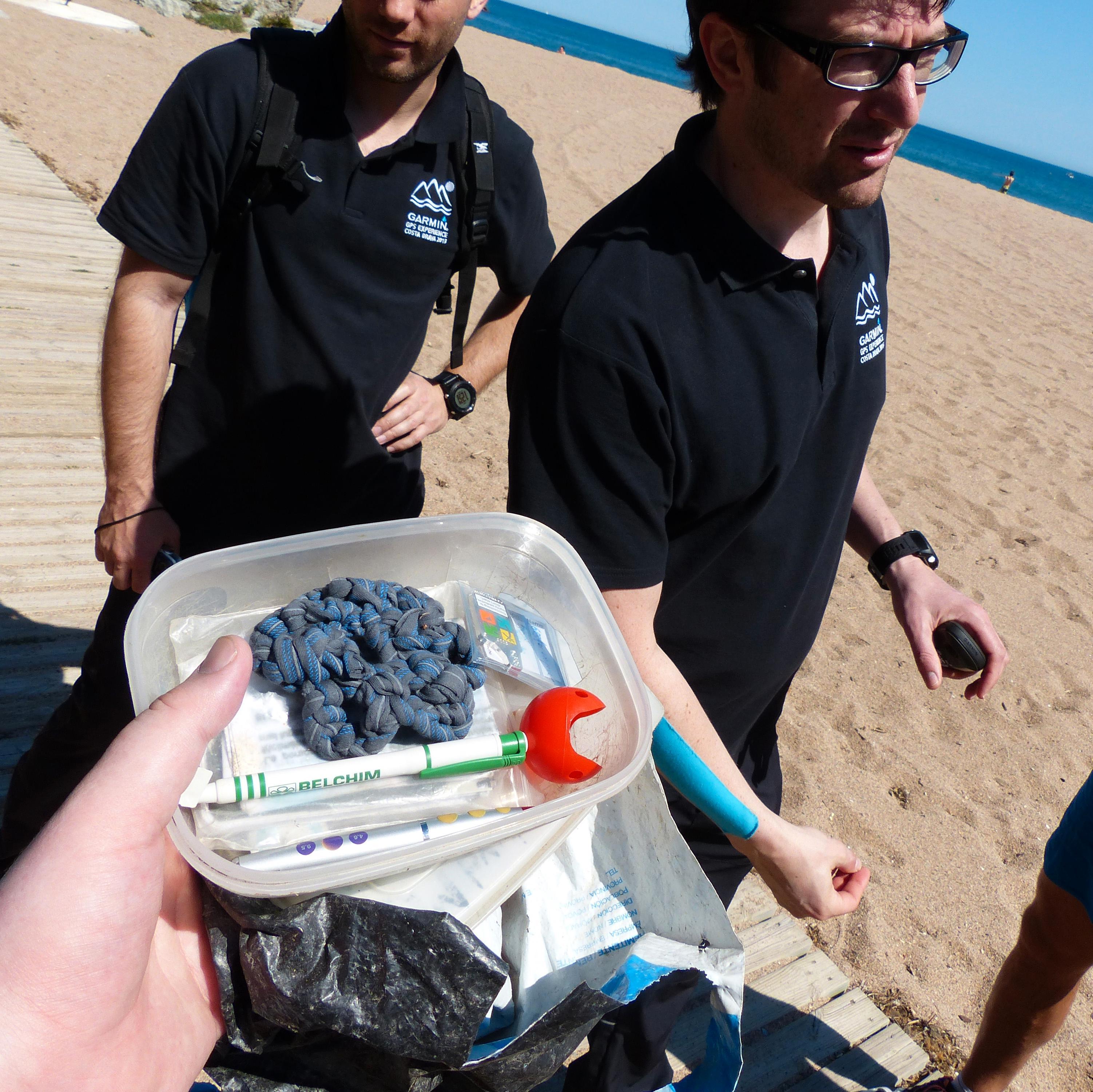 Under oppholdet i Spania fikk vi en kjapp innføring i geocaching med GPS-produktene.Foto: Finn Jarle Kvalheim, Amobil.no