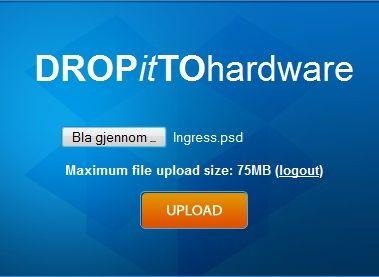 DropItToMe lar bekjente laste filer rett opp i Dropbox-mappen din rett fra nettleseren sin.