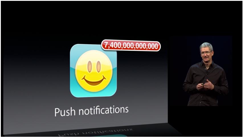 Apple har sendt ut en del push-meldinger siden iCloud ble lansert.Foto: apple