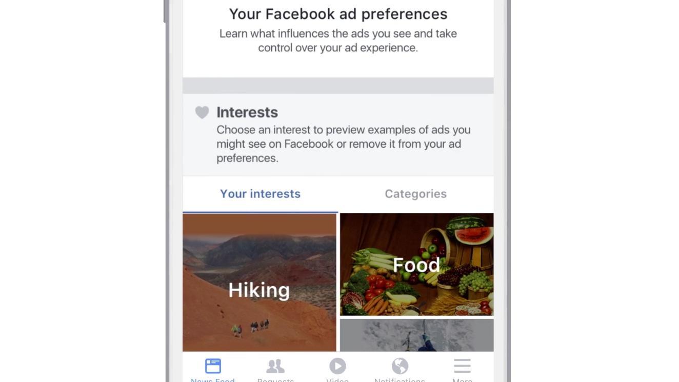 En ny preferanse-funksjon skal gi deg bedre kontroll på reklamen på Facebook.