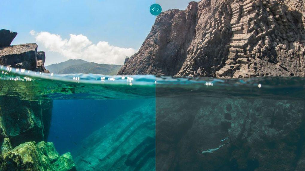 Sammenligningsbilde av kvaliteten med og uten Dolby Vision, hentet fra selskapets hjemmeside.