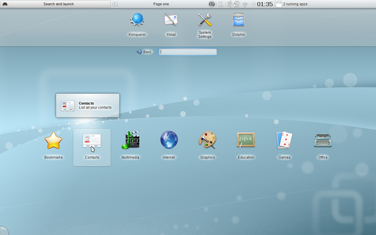 KDEs grensesnitt for minibærbare Foto: kde.org
