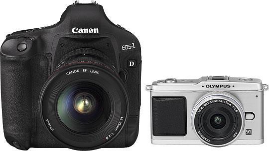 Forskjellen på et stort og et lite kamera.