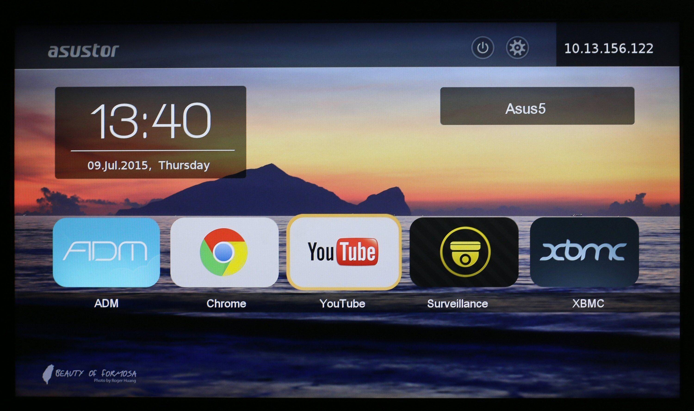Asustor Portal har et TV-vennlig grensesnitt.
