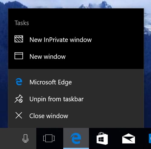 Oppdateringen skal gjøre det mulig å åpne nye Edge-vinduer direkte fra verktøylinjen.