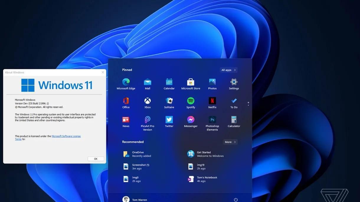 Slik skal Windows 11 se ut