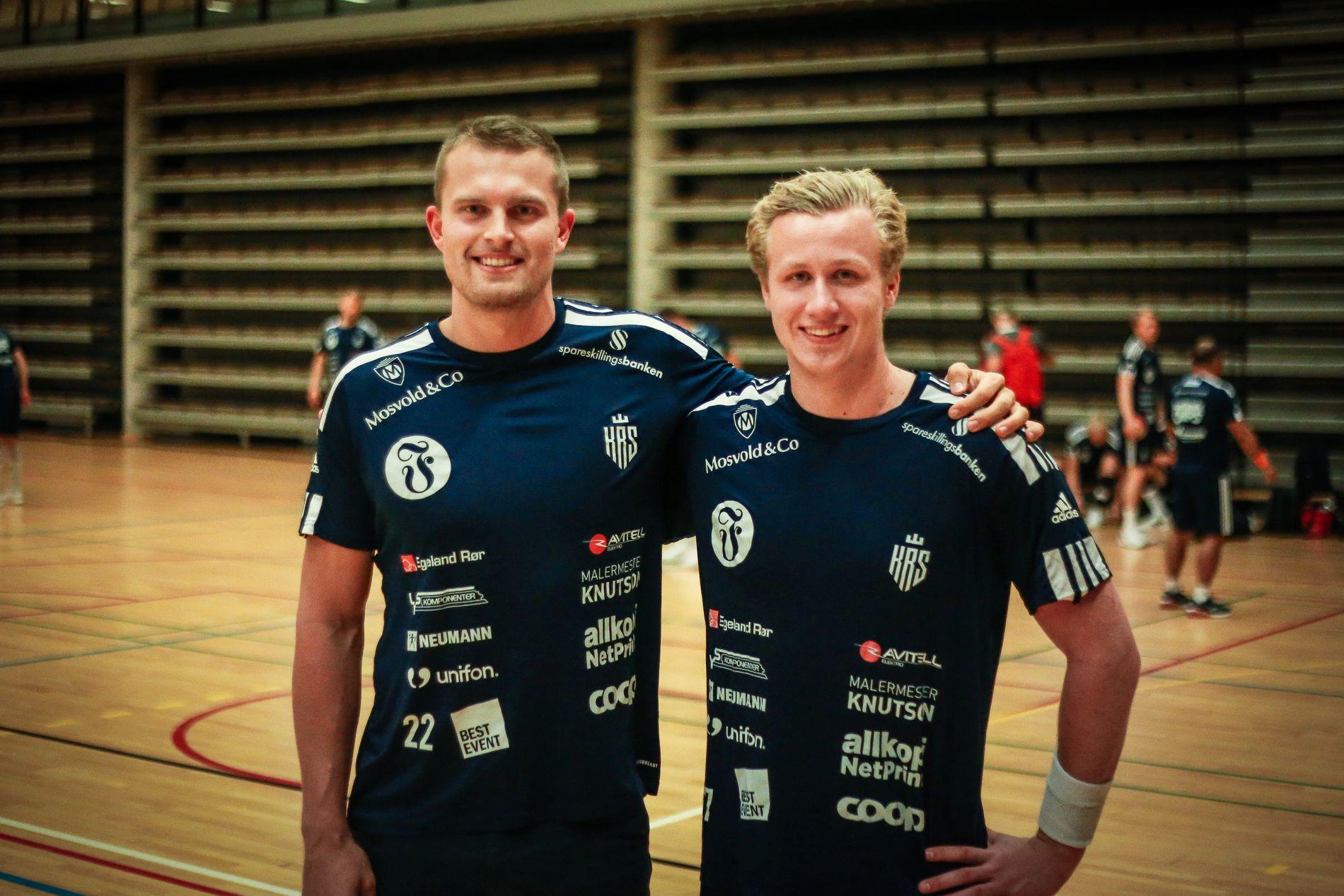 Kristiansand-kameratene Eirik Köpp (til venstre) og Kristian Gyberg.