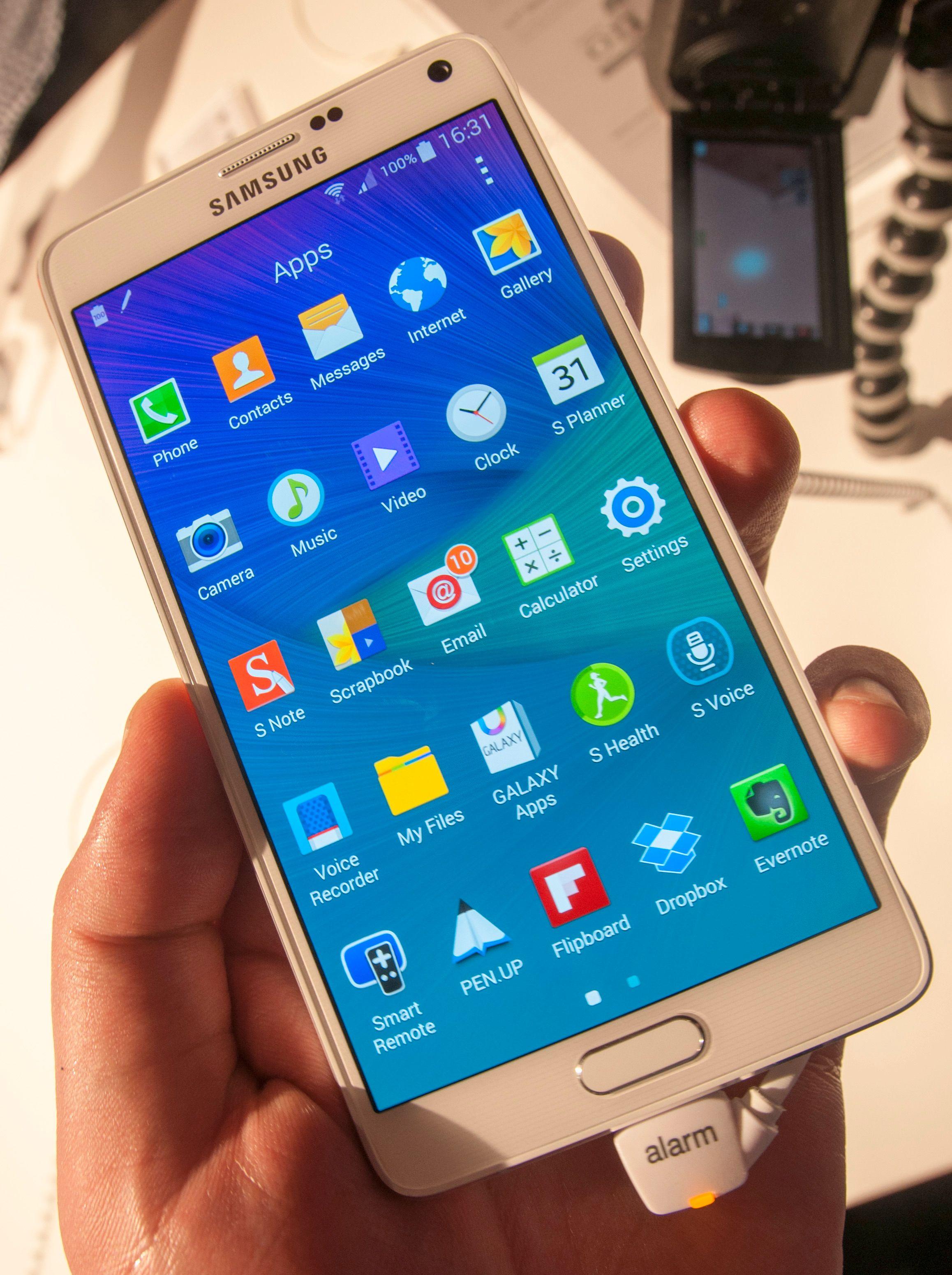 Det skal godt gjøres å oppdrive tregheter i Galaxy Note 4-menyene.