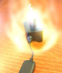 Mobillader forårsaket brann Tek.no