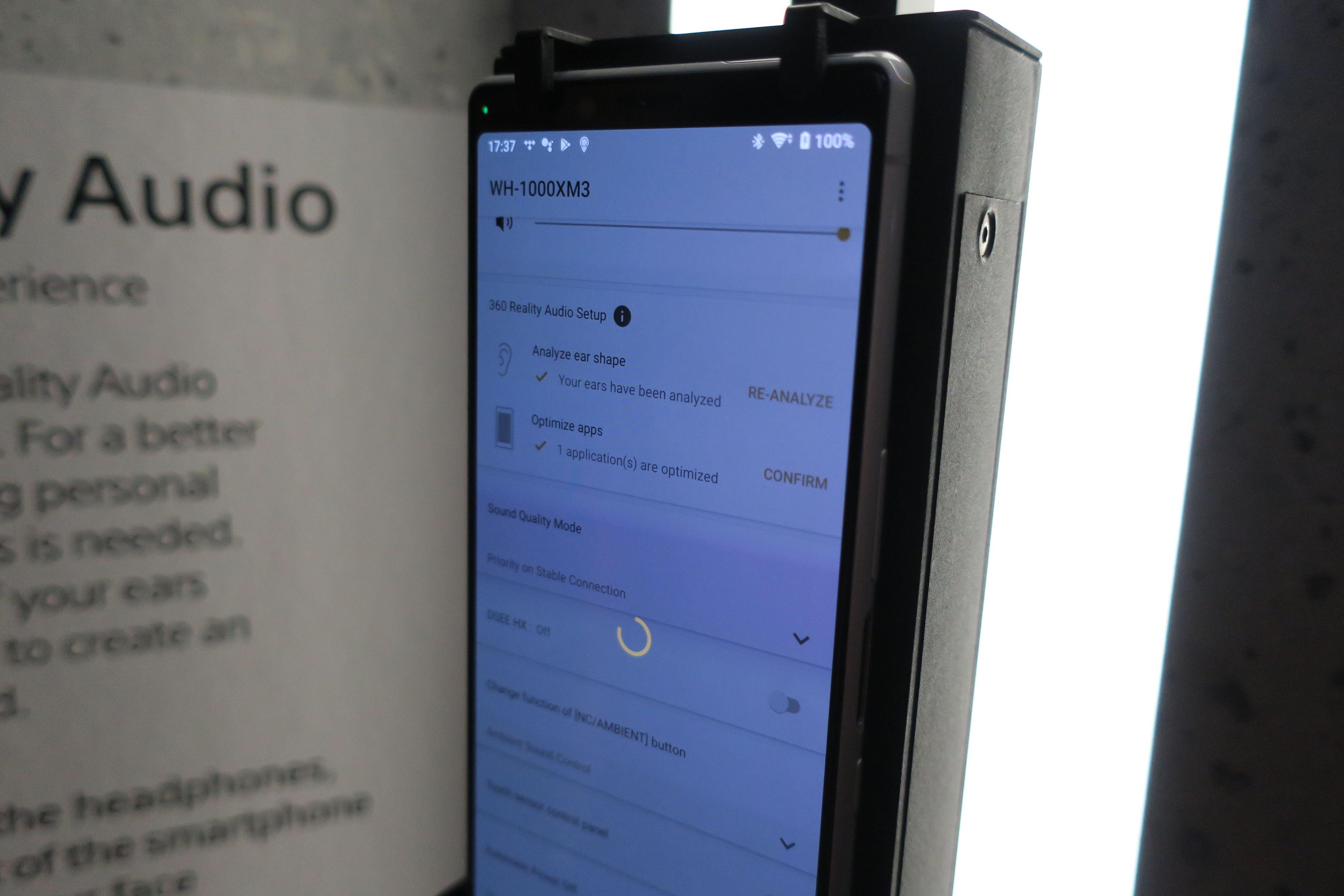 360 Reality Audio Setup skal være på plass i appen.