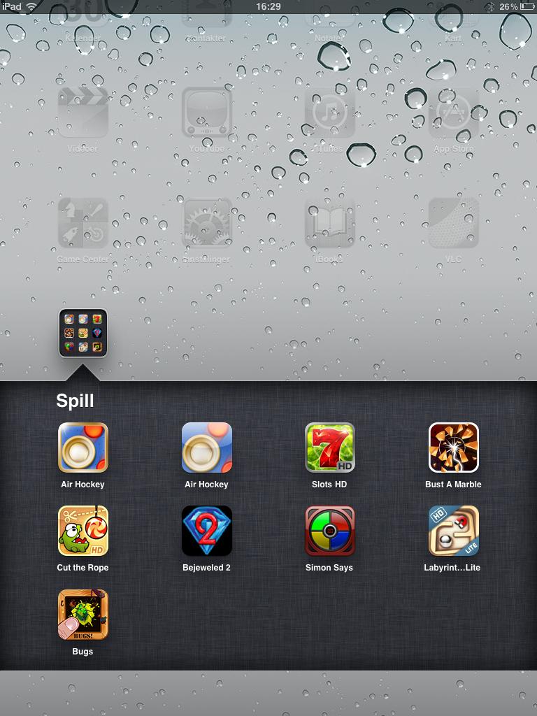 I nyeste utgave av IOS har støtte for blant annet mapper kommet til.
