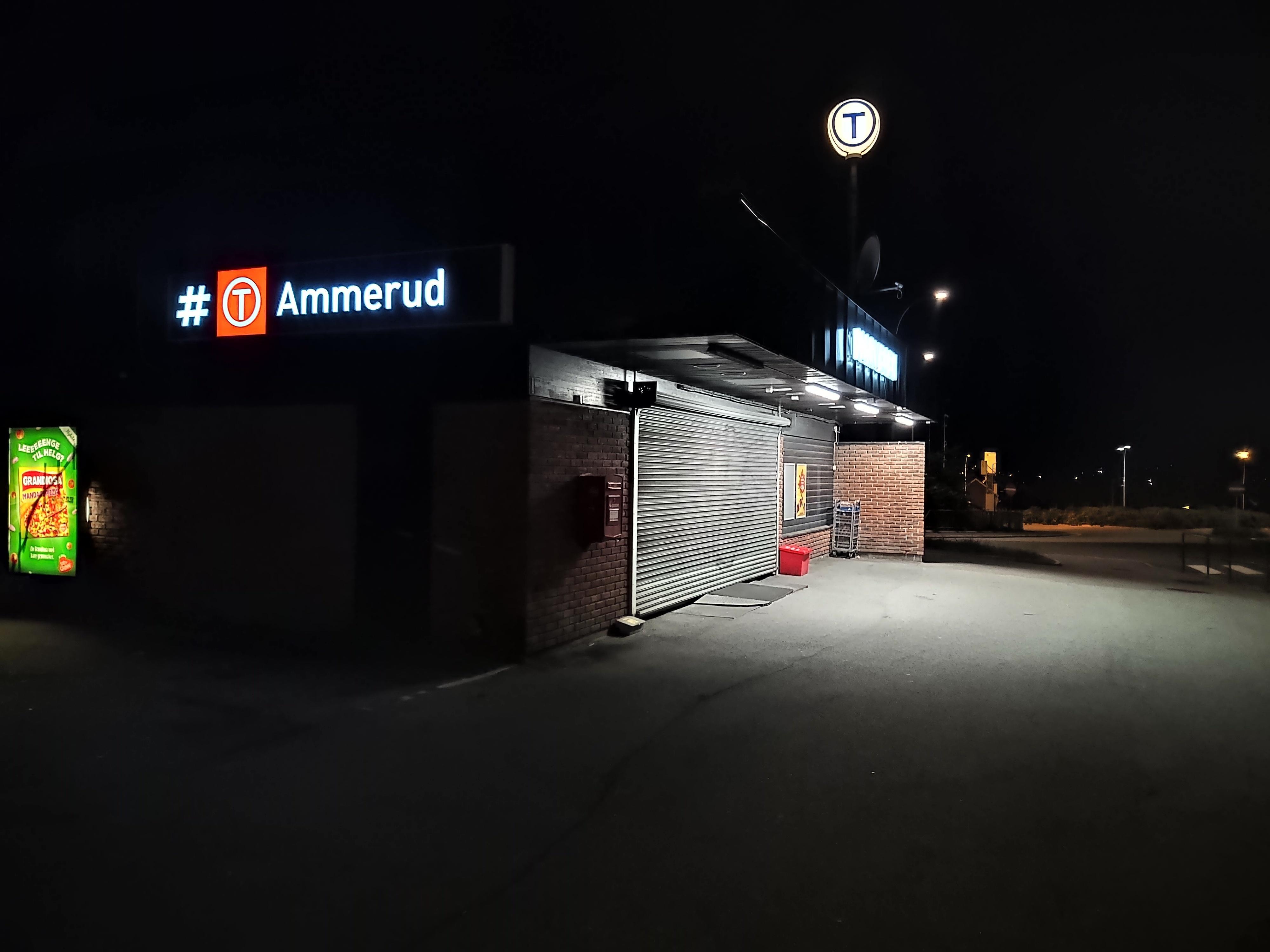 Et vanlig nattbilde tatt uten nattmodus. Disse blir som regel relativt gode.