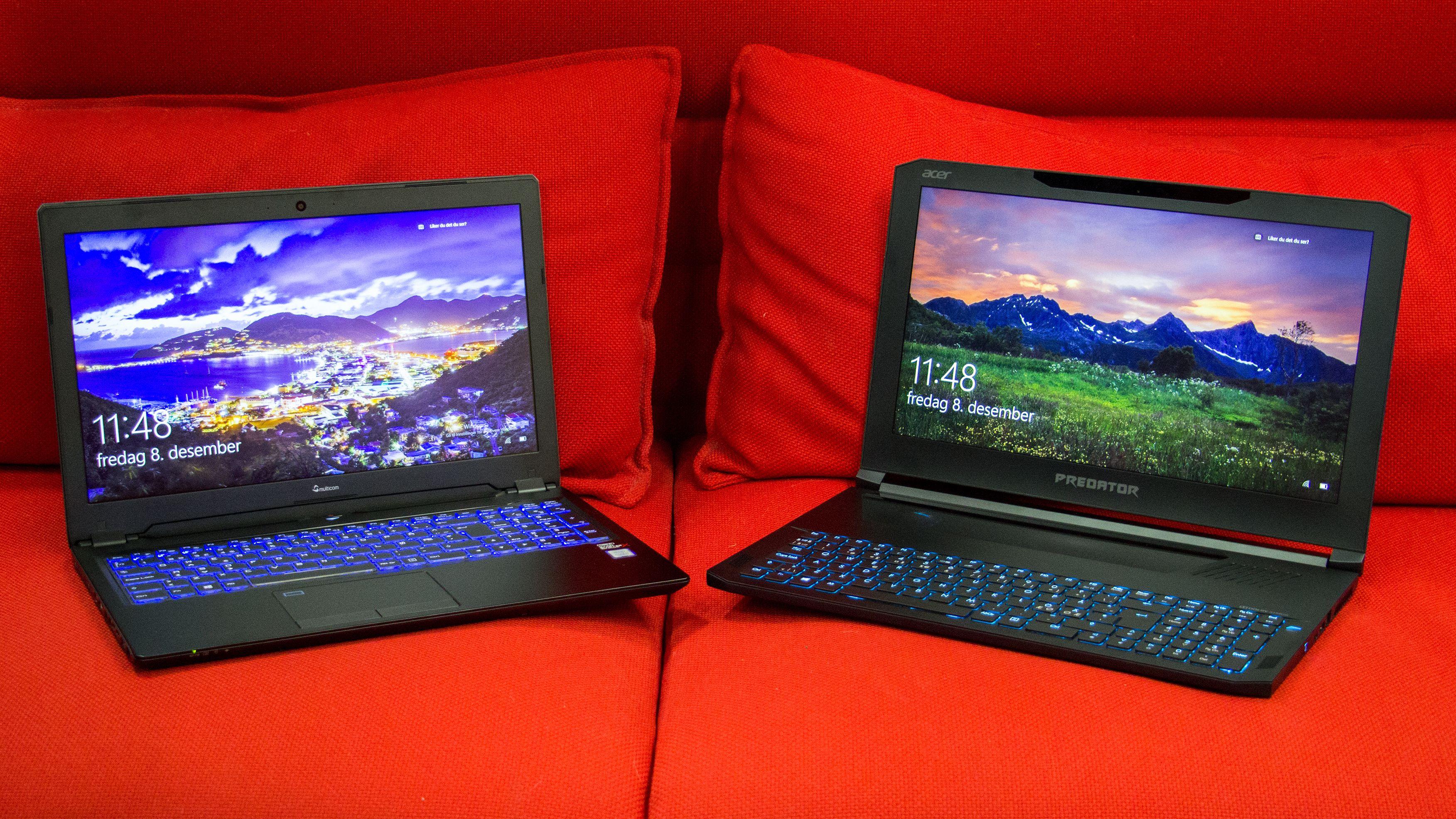 Multicom Kunshan P950 og Acer Predator Triton 700