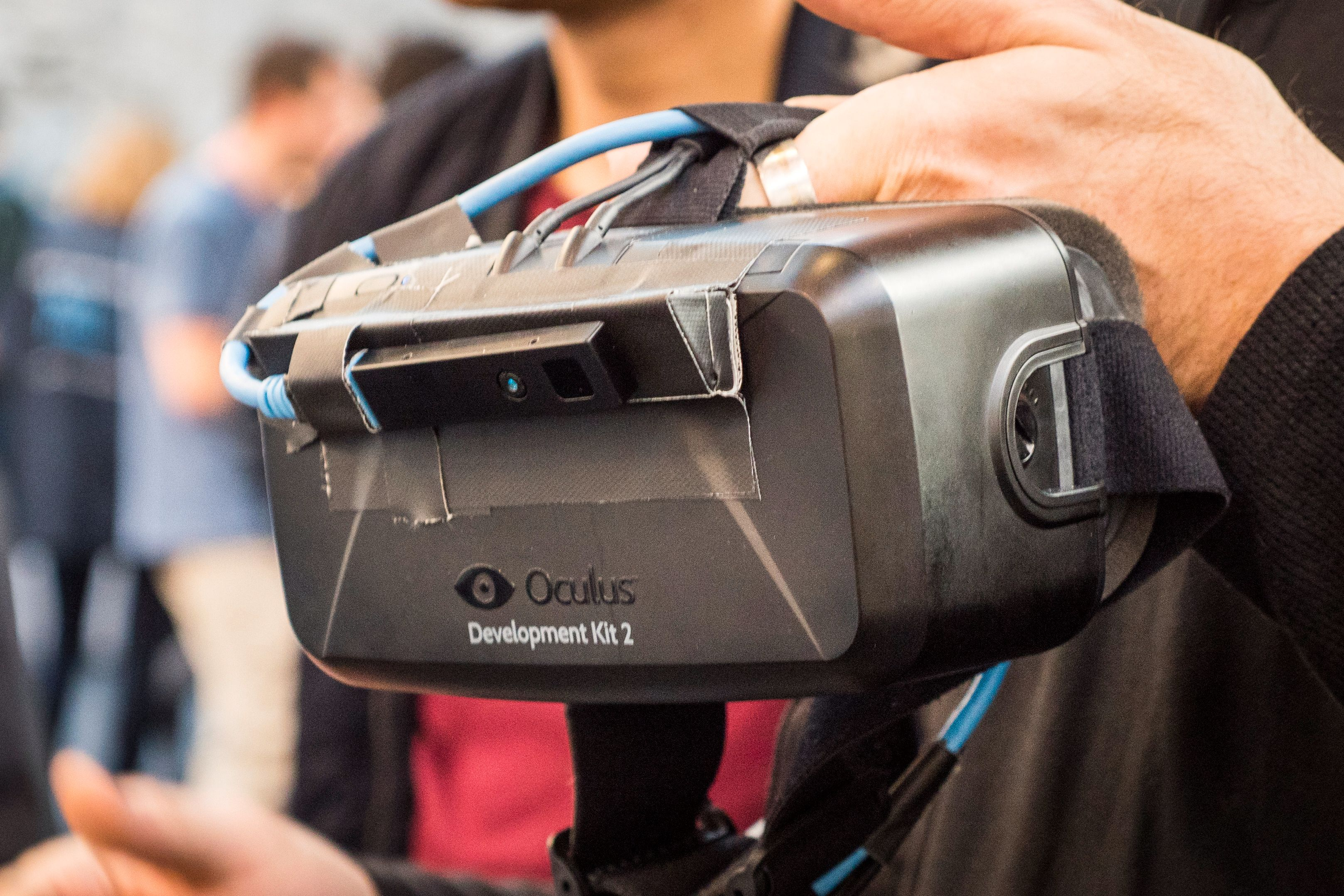 Oculus' VR demonstrasjoner er fortsatt populære på teknologimessene, også her i Dublin. Foto: Kristoffer Møllevik, Tek.no