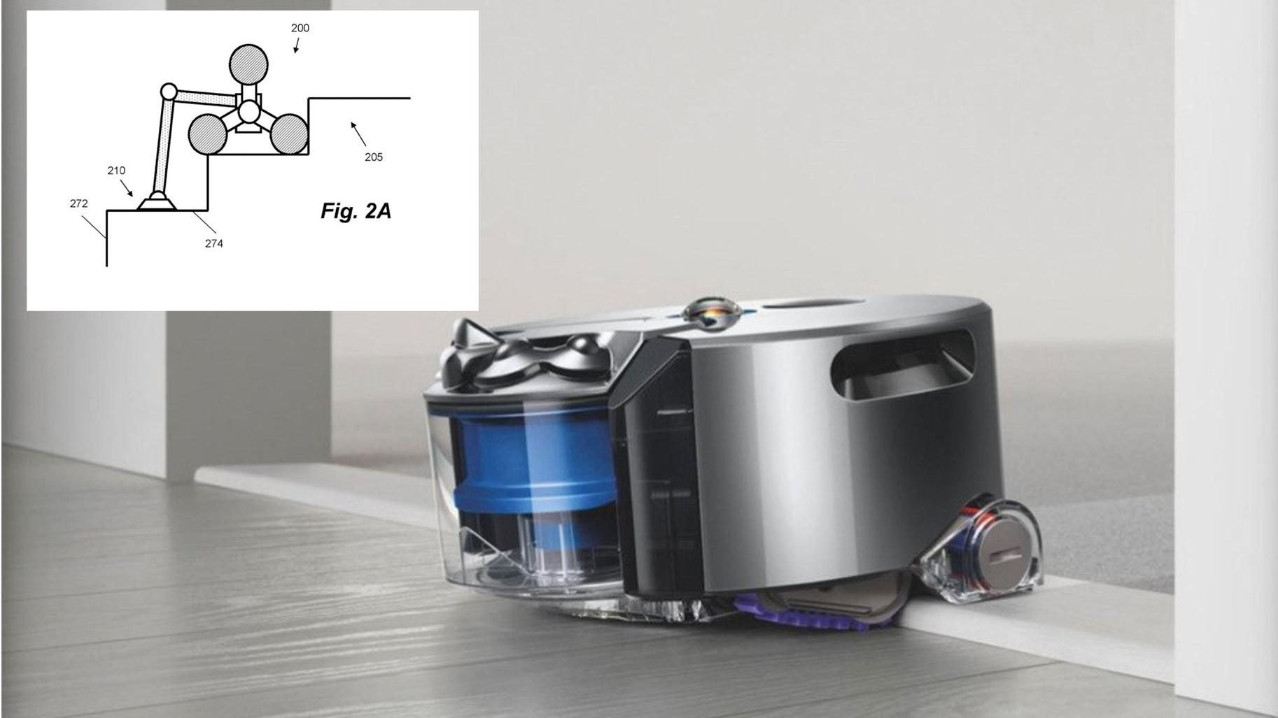 Dyson-patent avslører robotstøvsuger som kan gå i trapper