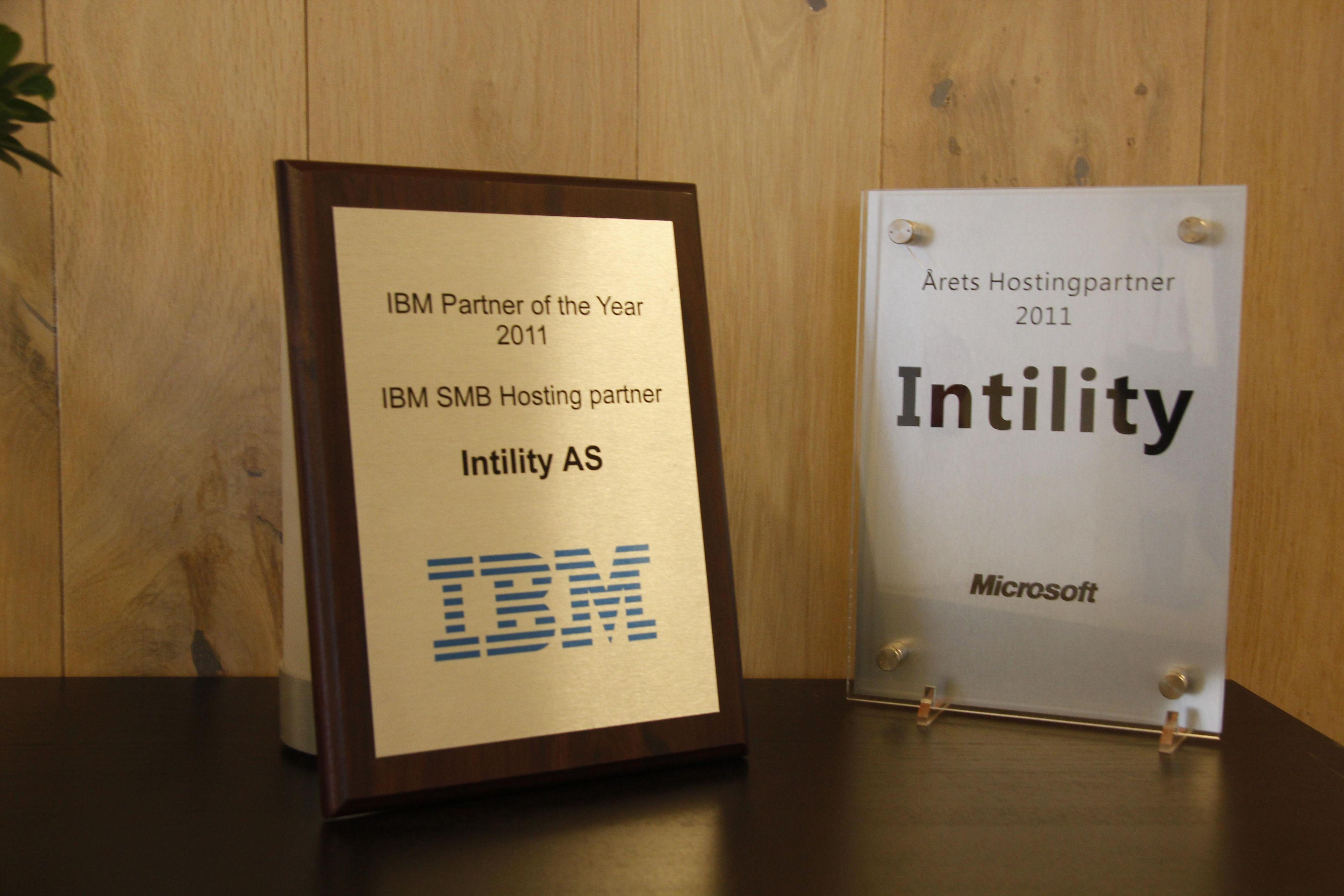Intility ble kåret årets hostingpartner både hos IBM og Microsoft i 2011.Foto: Atle Skretting