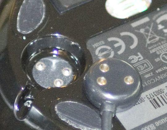 Magnetfeste på Mobile Memory Mouse 8000