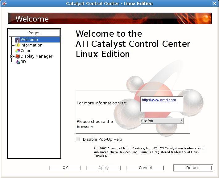 ATI Catalyst Controll Center i Linux